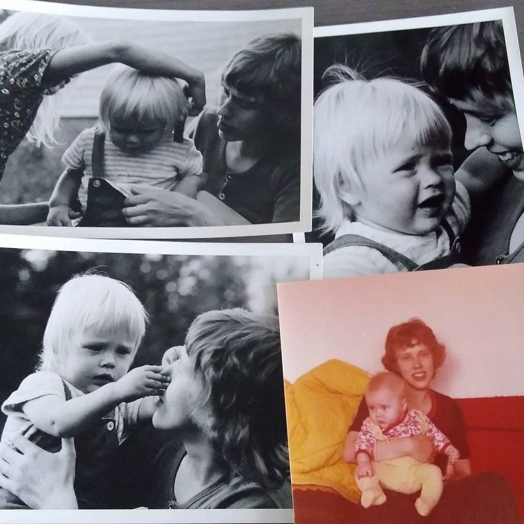 black and white pictures of me and my mom in the late 70s'