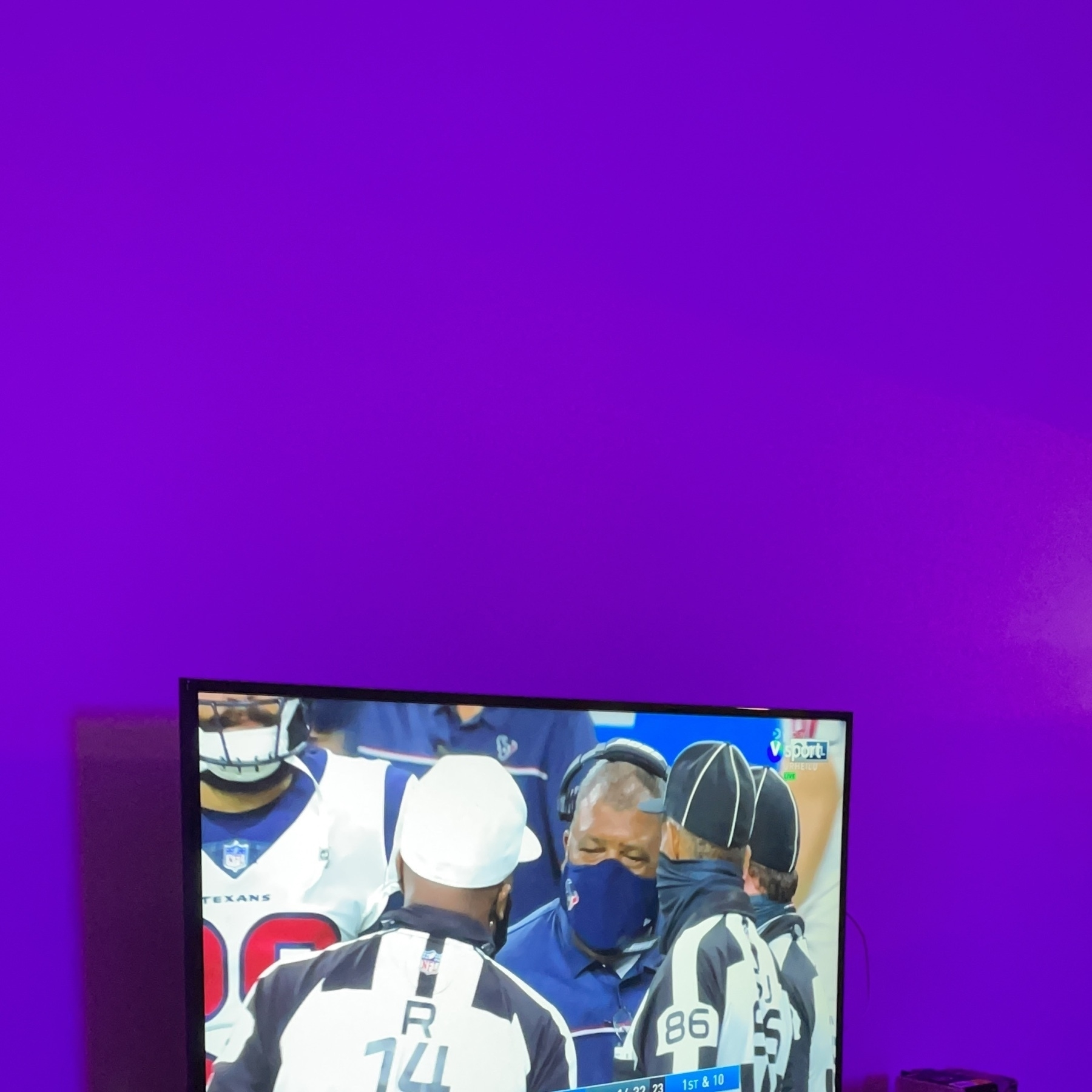 TV with NFL on