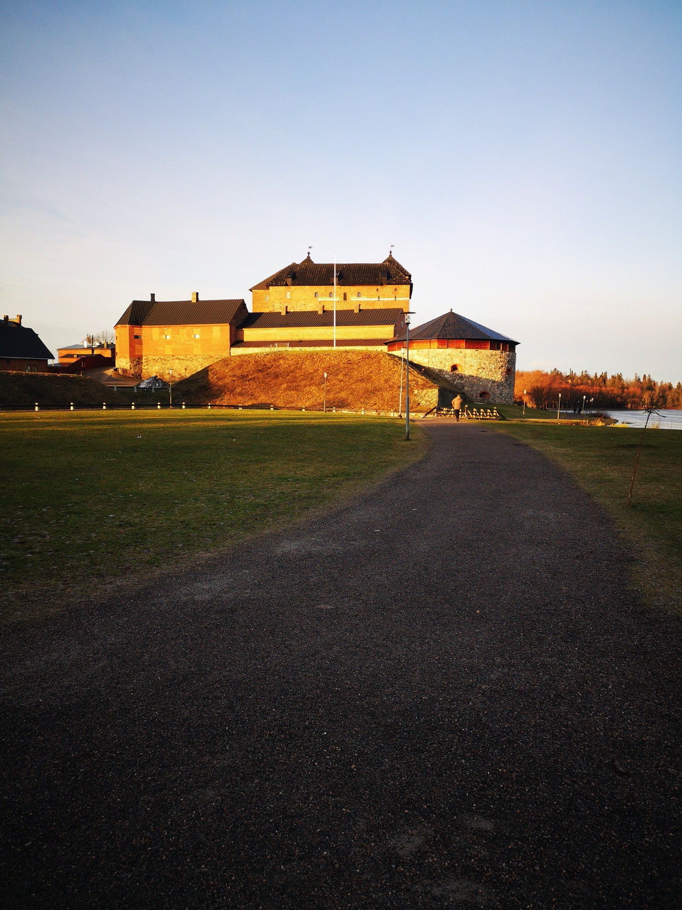 Hämeenlinna, Häme castle in low, midday sunshine