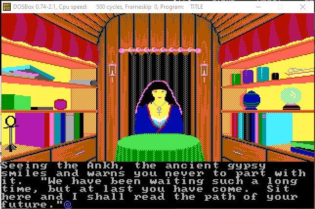 80's 8-bit rendition of  a foreteller